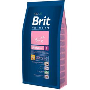 Корм для щенков и молодых собак маленьких пород, для беременных и кормящих сук Brit Premium Junior S