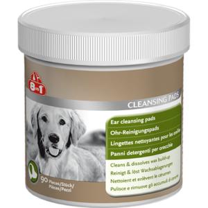 Салфетки очищающие для ушей собак 8in1 Ear Cleansing Pads (90шт)