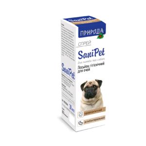 """Лосьон гигиенический для глаз (спрей) """"SaniPet"""" ТМ """"Природа"""" для собак и кошек"""