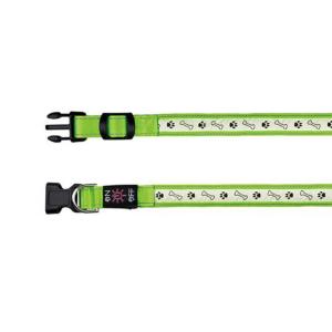 """Ошейник Trixie """"Illuminous USB"""" зеленый светоотражающий L-XL 50-60 см./25 мм."""