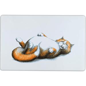 """Коврик под миску для кошек Trixie """"Thick Cat"""" 44х28см"""
