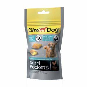 Витаминизированное лакомство для собак Подушечки Gimdog Nutri Pockets Agile с глюкозамином и витаминами группы В для суставов
