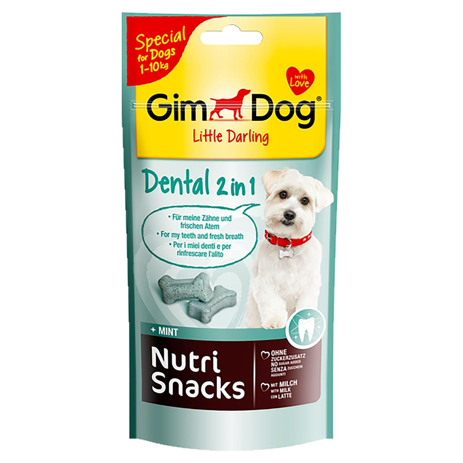 Косточки для собак весом до 10 кг. Gimdog Nutri Snacks Dental 2in1 для очищения зубов