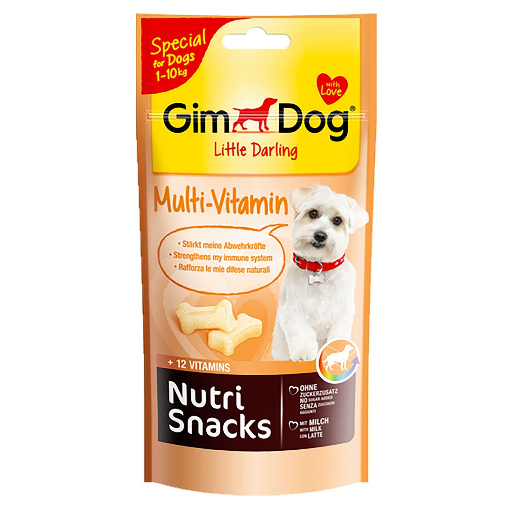 Косточки для собак весом до 10 кг. Мульти-Витамин Gimdog Nutri Snacks Multi-vitamin для иммунитета