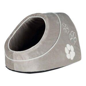 """Домик для котов и маленьких собак """"Nica"""" Trixie серый мех/плюш 41х35х26 см."""