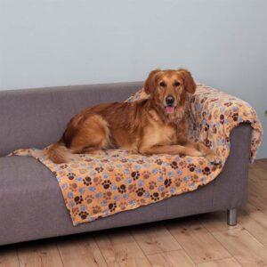 """Коврик-подстилка для собак с лапками """"Laslo"""" Trixie бежевый флис"""