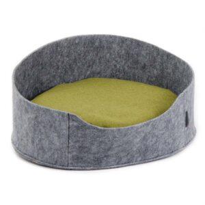 """Лежак для собак и кошек Природа Pet Fashion """"БАЛИ"""" серый, коричневый (22х37х48 см.)"""