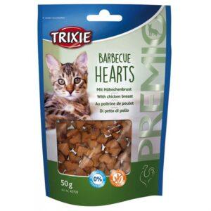 """Лакомство для кошек – """"PREMIO Barbecue Hearts"""" курица Trixie 50 гр."""