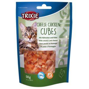 """Лакомство для кошек – """"PREMIO Cheese Chicken Cubes"""" сырно-куриные кубики Trixie 50 гр."""