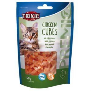 """Лакомство для кошек – """"PREMIO Chicken Cubes"""" куриные кубики Trixie 50 гр."""