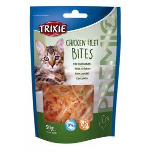 """Лакомство для кошек – """"PREMIO Chicken Filet Bites"""" филе куриное сушеное Trixie 50 гр."""