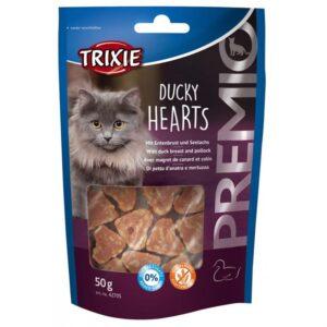 """Лакомство для кошек – """"PREMIO Hearts"""" утка и минтай Trixie 50 гр."""
