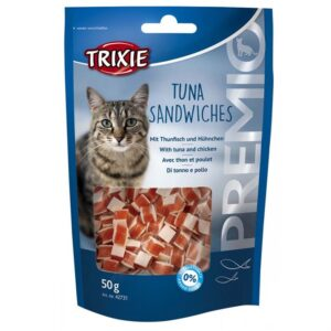 """Лакомство для кошек –  """"PREMIO Tuna Sandwiches"""" тунец Trixie 50 гр."""