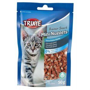 """Лакомство для кошек –  """"Trainer Snack Mini Nuggets"""" курица и рыба Trixie 50 гр."""