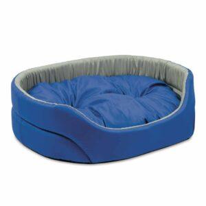 """Лежак для собак Природа """"Омега"""" 1; 2; 3; 4; 5 серо-синий"""