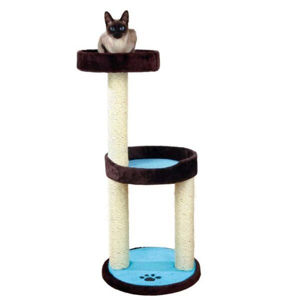"""Дряпка для кошек """"Lugo"""" Trixie коричневая/бирюзовая 103 см."""