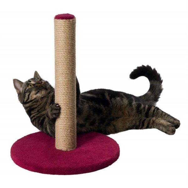 Дряпка-столбик для кошек Trixie бордовая, коричневая 42 см.