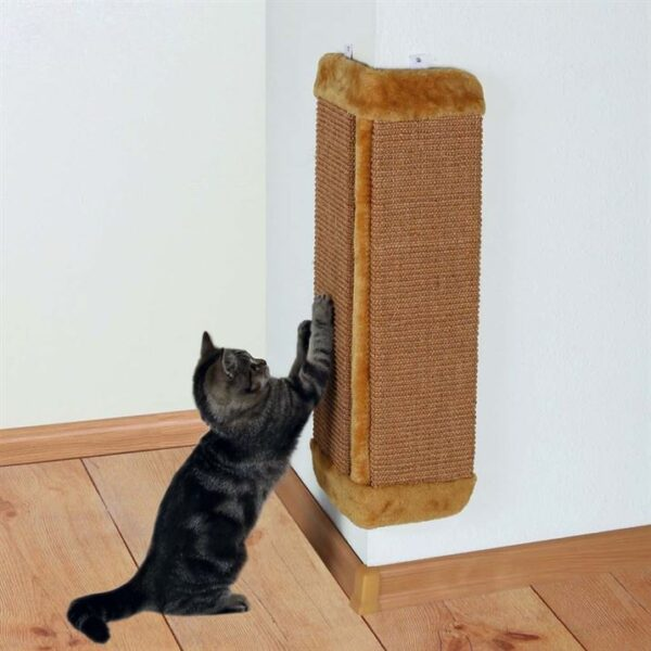 Дряпка угловая для кошек Trixie серая, коричневая 32х60 см.