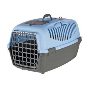 """Переноска-контейнер """"Capri 3"""" Trixie серая, синяя 40 x 38 x 61 см. до 12 кг."""