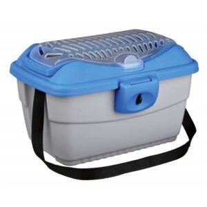 """Переноска-контейнер """"Mini Capri"""" Trixie серая/синяя 40 x 30 x 22 см."""