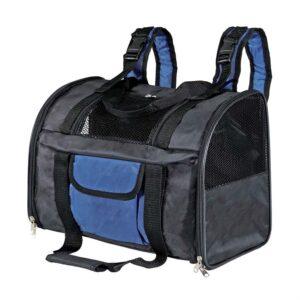 "Рюкзак-переноска для собак ""Connor"" Trixie черный/синий 42 x 29 x 21 см. (до 8 кг.)"