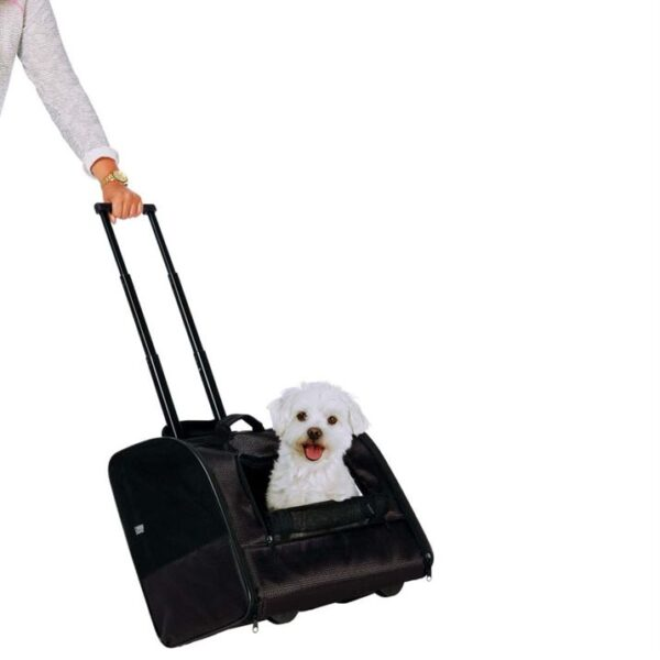"Тележка-переноска для собак ""Elegance"" Trixie чёрная 45 x 41 x 31 см. (до 10 кг.)"