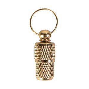 Адресовка-капсула для собак и кошек Trixie золотая, металл