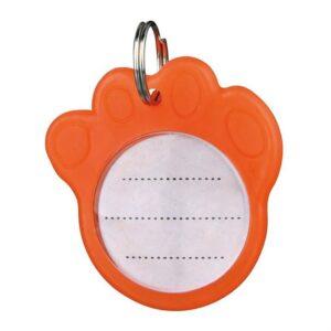 Адресовка-лапка для собак Trixie с флюоресцентным покрытием, пластик d=3,5 см.