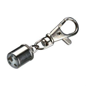 Брелок-фонарик c карабином для собак мигающий Trixie хром 1 см.
