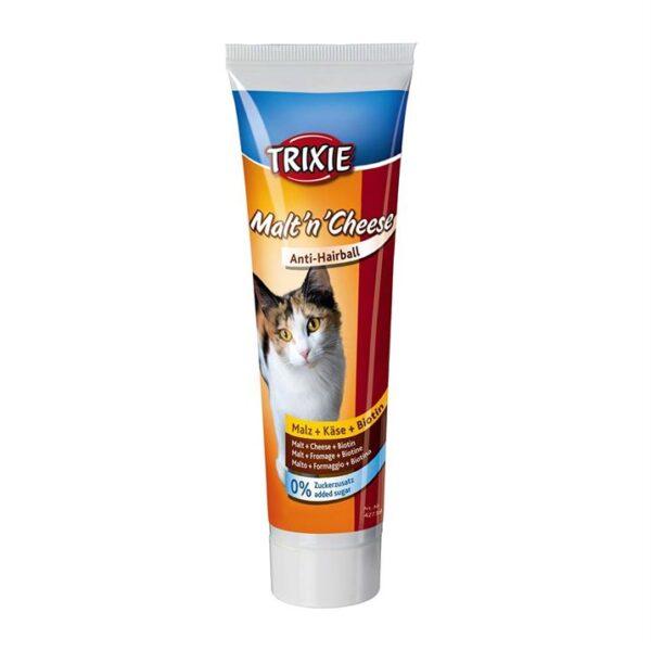 """Витамины для кошек - Паста с сыром """"Malt`n`Cheese"""" Trixie 100 гр. (для выведения шерсти)"""