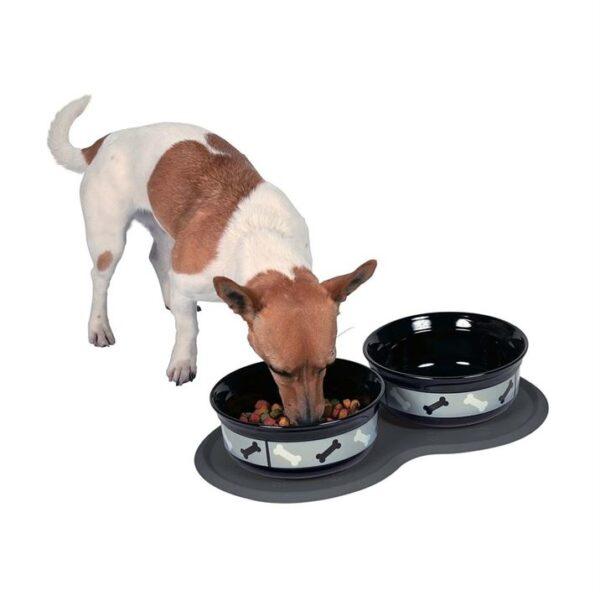 Коврик под миски для собак резиновый Trixie 45 х 25 см. тёмно-серый