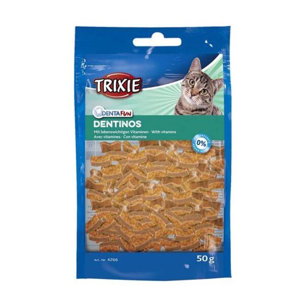 "Лакомство для кошек ""Dentinos Denta Fun"" Trixie 50 гр. (для зубов)"