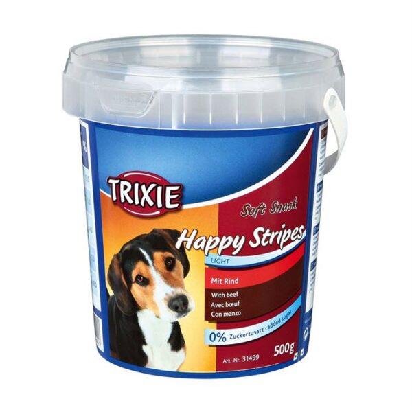 "Лакомство для собак ""Happy Stripes"" Trixie пластиковое ведро 500 гр. (говядина)"