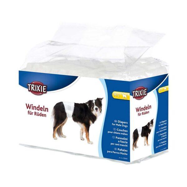 Памперсы для кобелей Trixie S-M, M-L, L-XL (12 шт.)