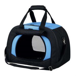 """Сумка-переноска для собак """"Kilian"""" Trixie черная/голубая 31 x 32 x 48 см. (до 6 кг.)"""