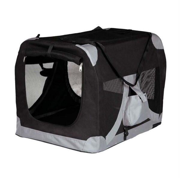 "Сумка-переноска для собак ""Tcamp de Luxe"" Trixie чёрная 35 x 35 x 50 см."