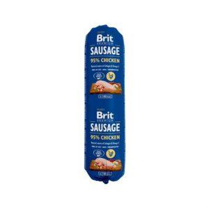 Консервы для собак Brit Premium Dog Sausage CHICKEN колбаса с курицей 800 гр.