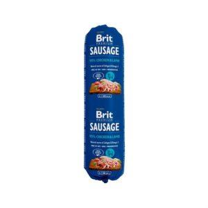 Консервы для собак Brit Premium Dog Sausage CHICKEN & LAMB колбаса с курицей и ягненком 800 гр.