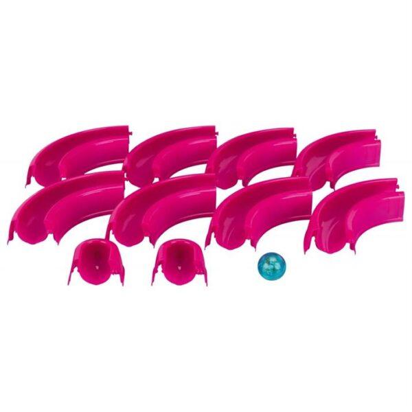 """Игрушка для кошек - Змейка-восьмерка """"Ball Race"""" со светящимся мячиком Trixie 65×31 см. розовая, пластик"""