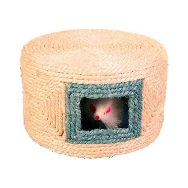 Игрушка для кошек Барабан с мышками Trixie сизаль 16х10 см.
