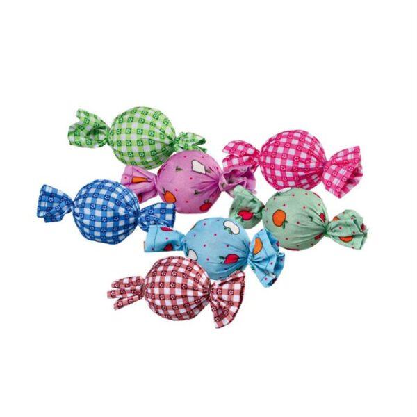 Игрушка для кошек - Конфета-погремушка Trixie пластик/ткань 4 см.