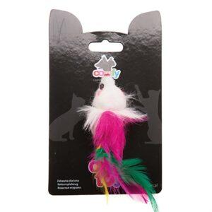 Игрушка для кошек Мышка с перьями MINI Comfy 9 см.