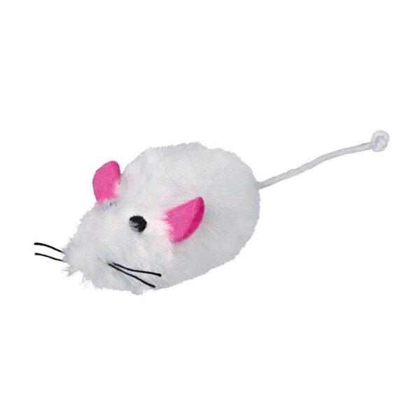 Игрушка для кошек Мышка с пищалкой Trixie плюш 9 см.