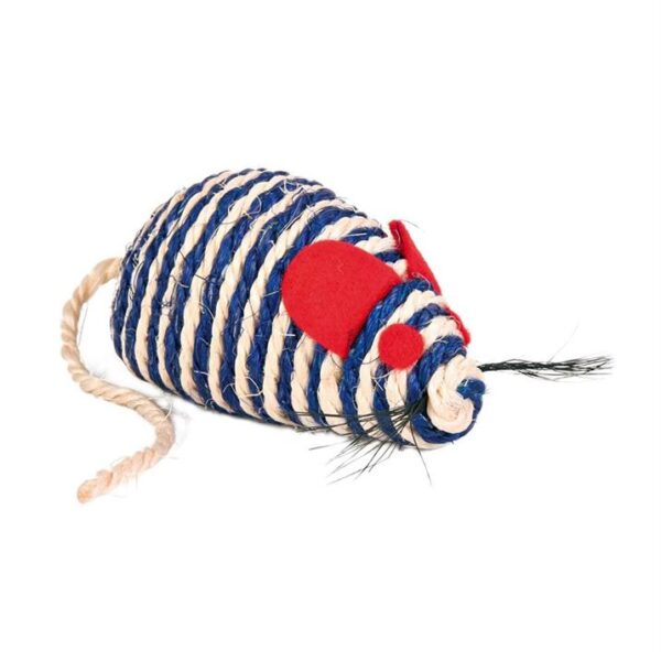 Игрушка для кошек Мышка с погремушкой Trixie сизаль 10 см.