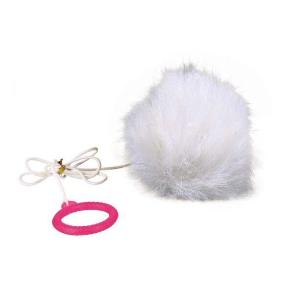 Игрушка для кошек Мячик на резинке Trixie плюш ø 7 см./55 см.