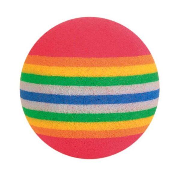 Игрушка для кошек Мячик радужный Trixie вспененная резина (4 шт.) 4 см.