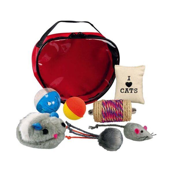 Игрушка для кошек - Набор сумка с игрушками Trixie (7 шт.)