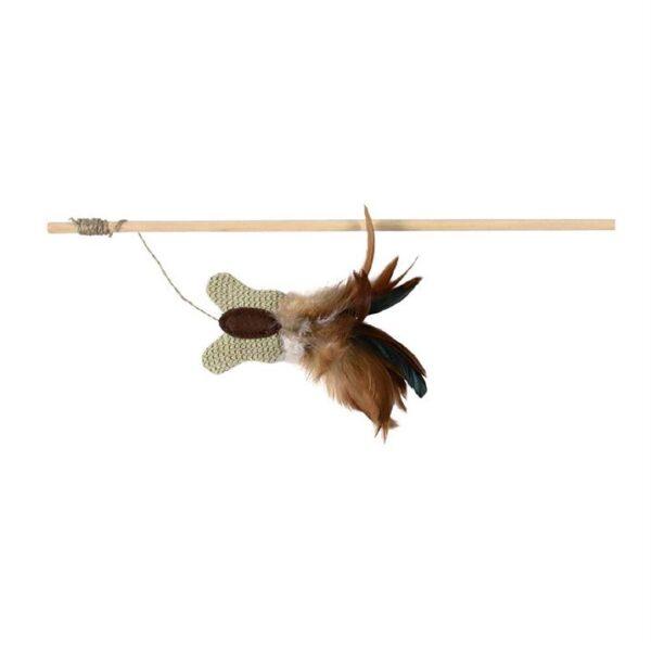 Игрушка для кошек Палочка с бабочкой и перьями Trixie 45 см.