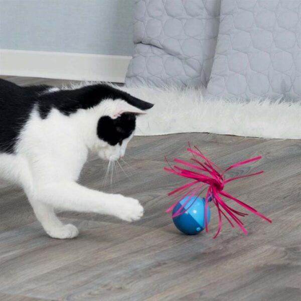 "Игрушка для кошек – Мяч-Неваляшка ""Roly-poly ball"" Trixie 6×9 см. пластик"