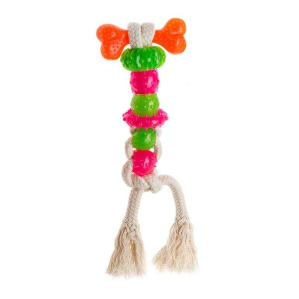 Игрушка для собак - Канат с 7 элементами с ароматом мяты Mint Dental TOOTHER 7 Comfy